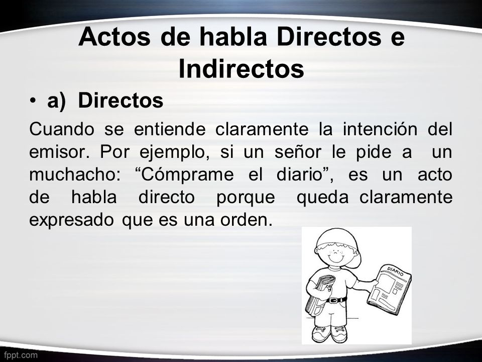 Actos de habla Directos e Indirectos