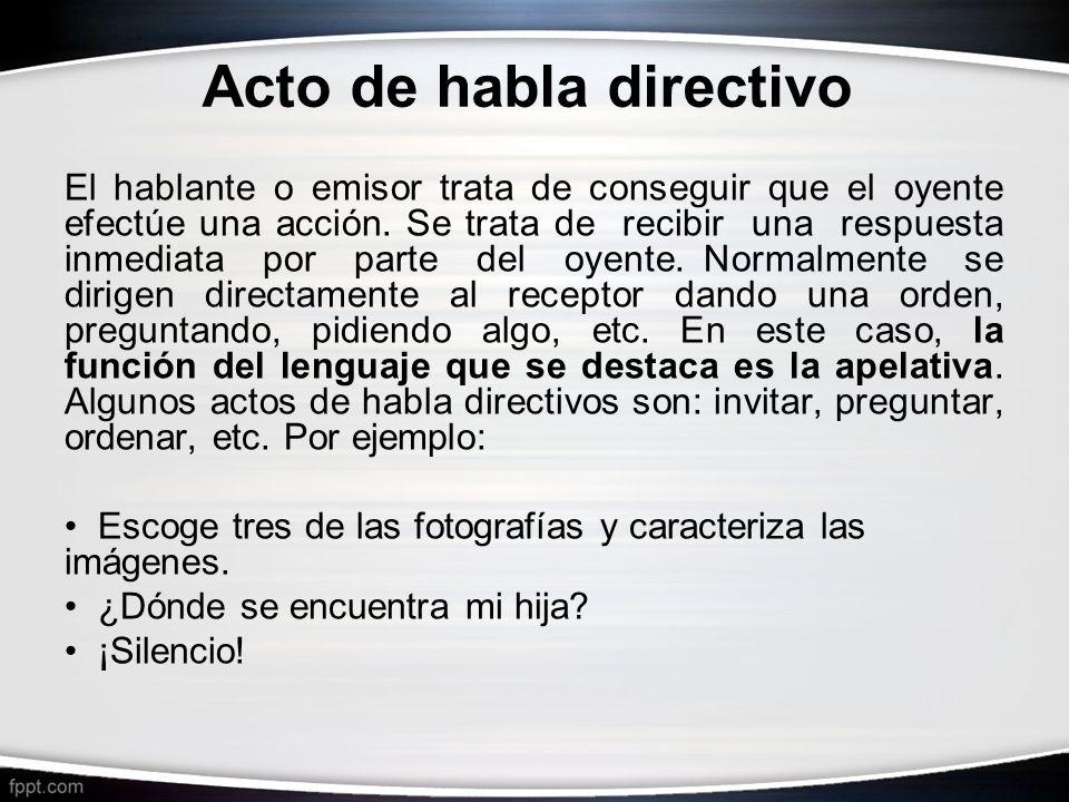 Acto de habla directivo