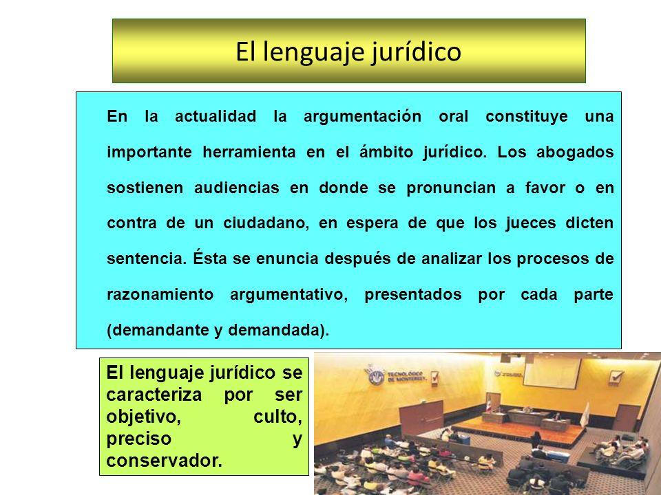 El lenguaje jurídico