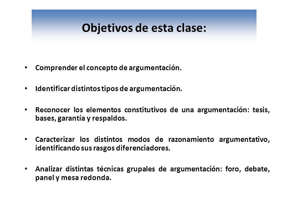 Objetivos de esta clase:
