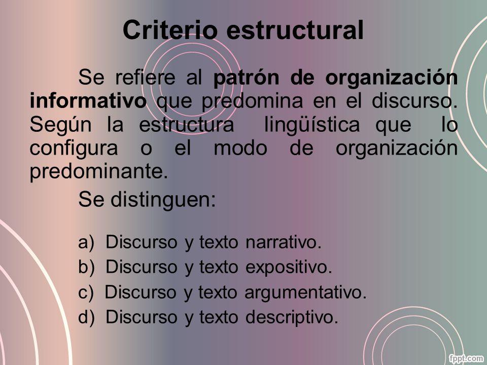 Criterio estructural