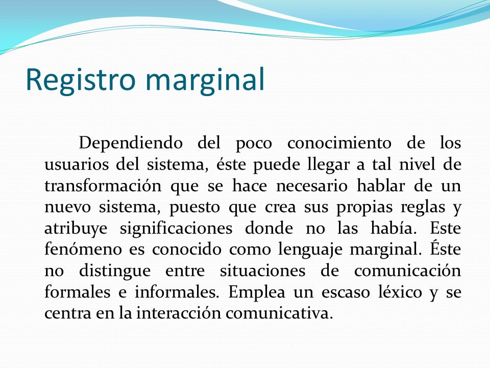 Registro marginal