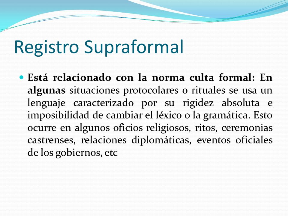 Registro Supraformal