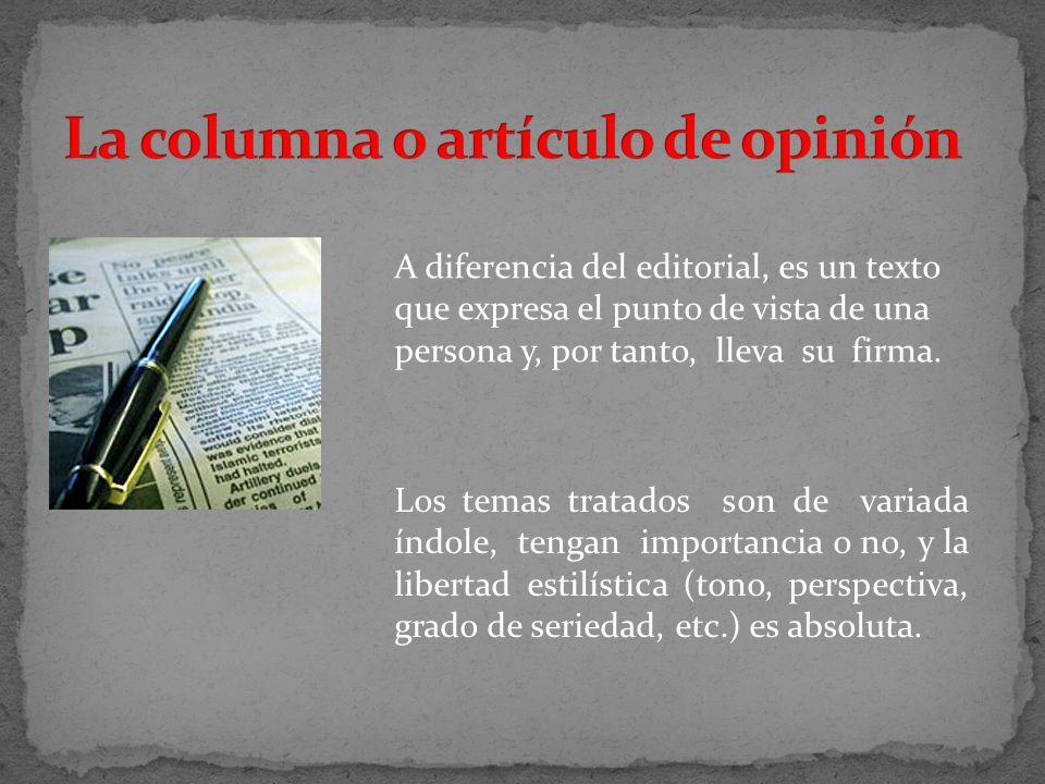 La columna o artículo de opinión