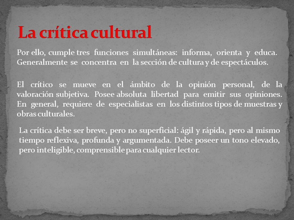 La crítica cultural