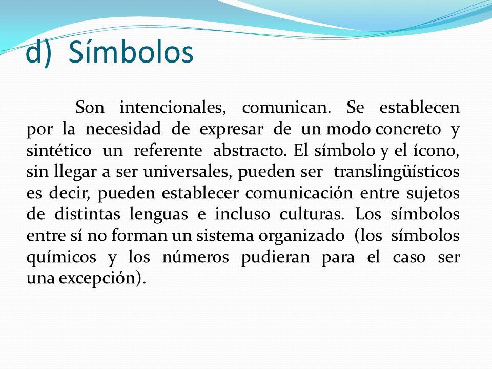 d) Símbolos