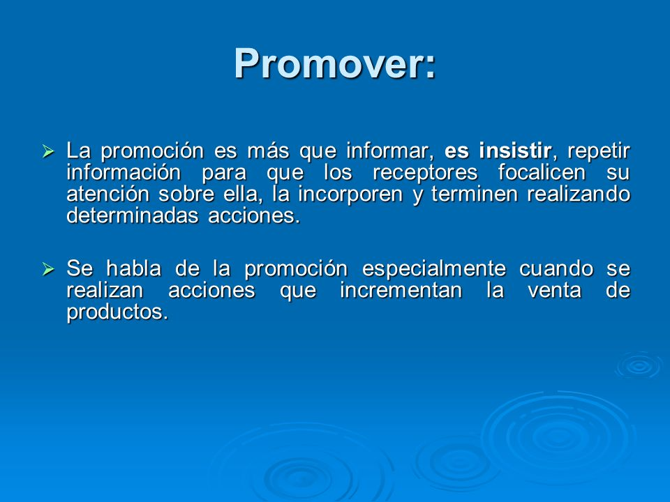 Promover: