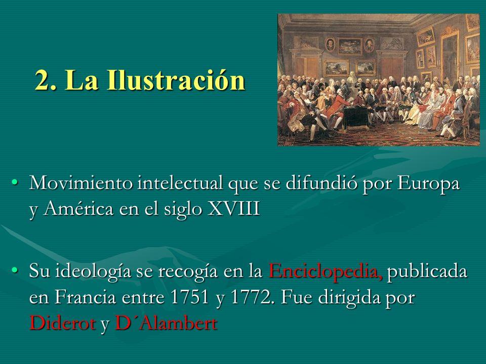2. La Ilustración Movimiento intelectual que se difundió por Europa y América en el siglo XVIII.