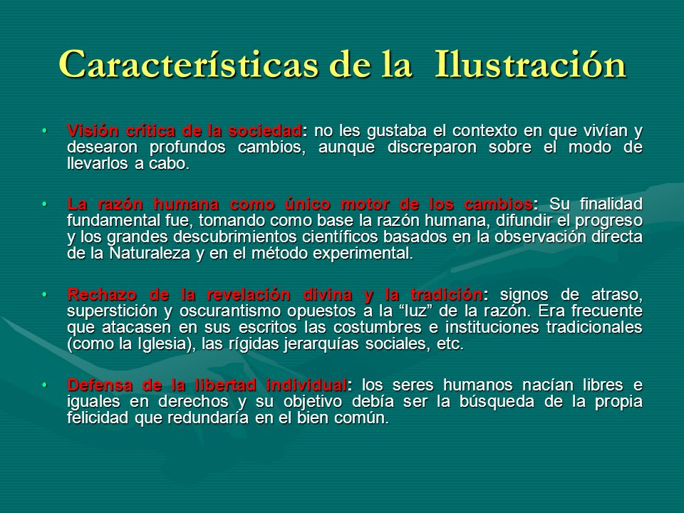 Características de la Ilustración