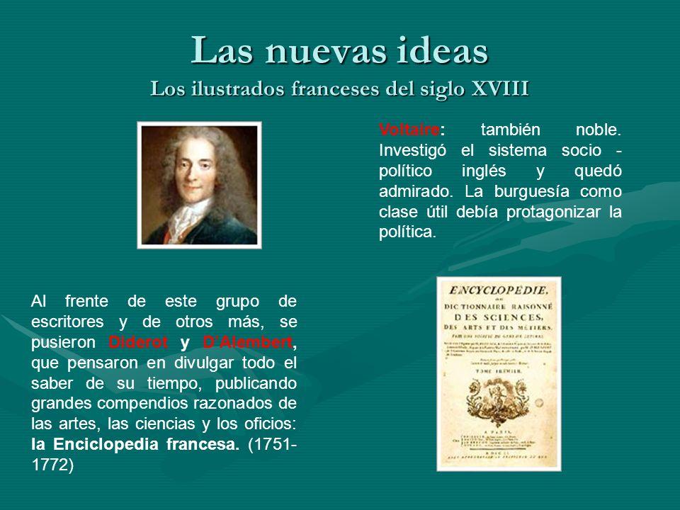 Las nuevas ideas Los ilustrados franceses del siglo XVIII