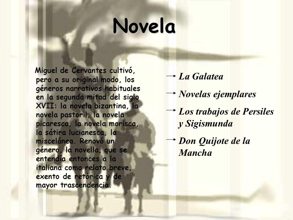 Novela La Galatea Novelas ejemplares