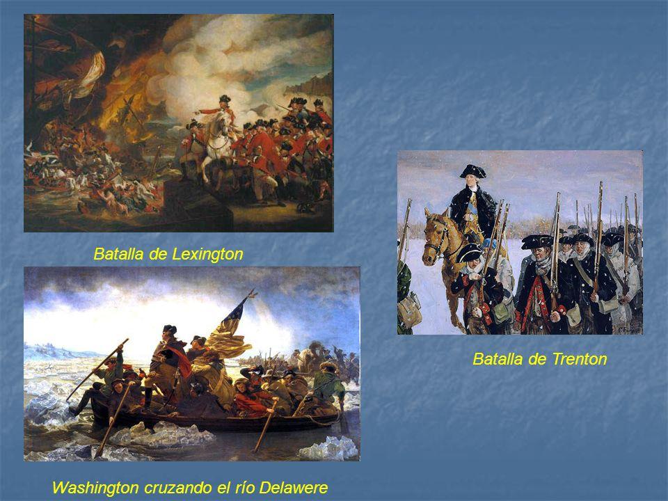 Batalla de Lexington Batalla de Trenton Washington cruzando el río Delawere