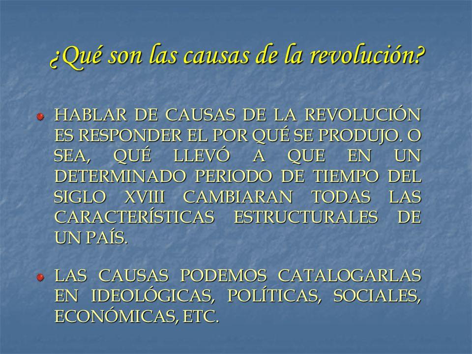 ¿Qué son las causas de la revolución