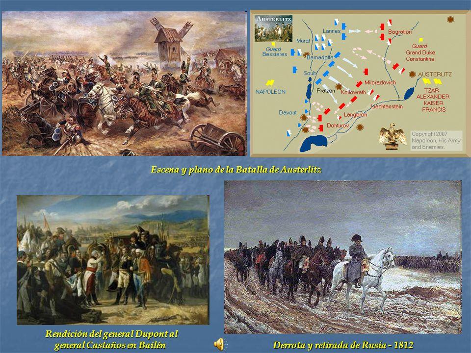 Escena y plano de la Batalla de Austerlitz
