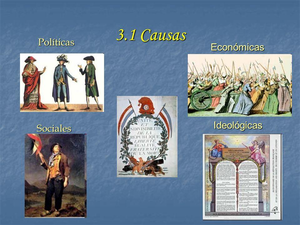 3.1 Causas Políticas Sociales Económicas Ideológicas