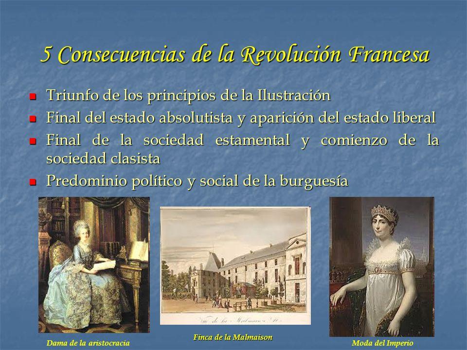 5 Consecuencias de la Revolución Francesa
