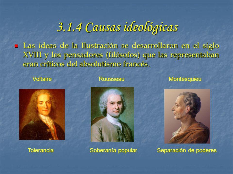 3.1.4 Causas ideológicas