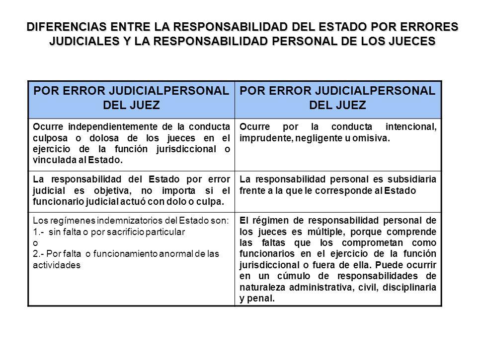 POR ERROR JUDICIALPERSONAL DEL JUEZ