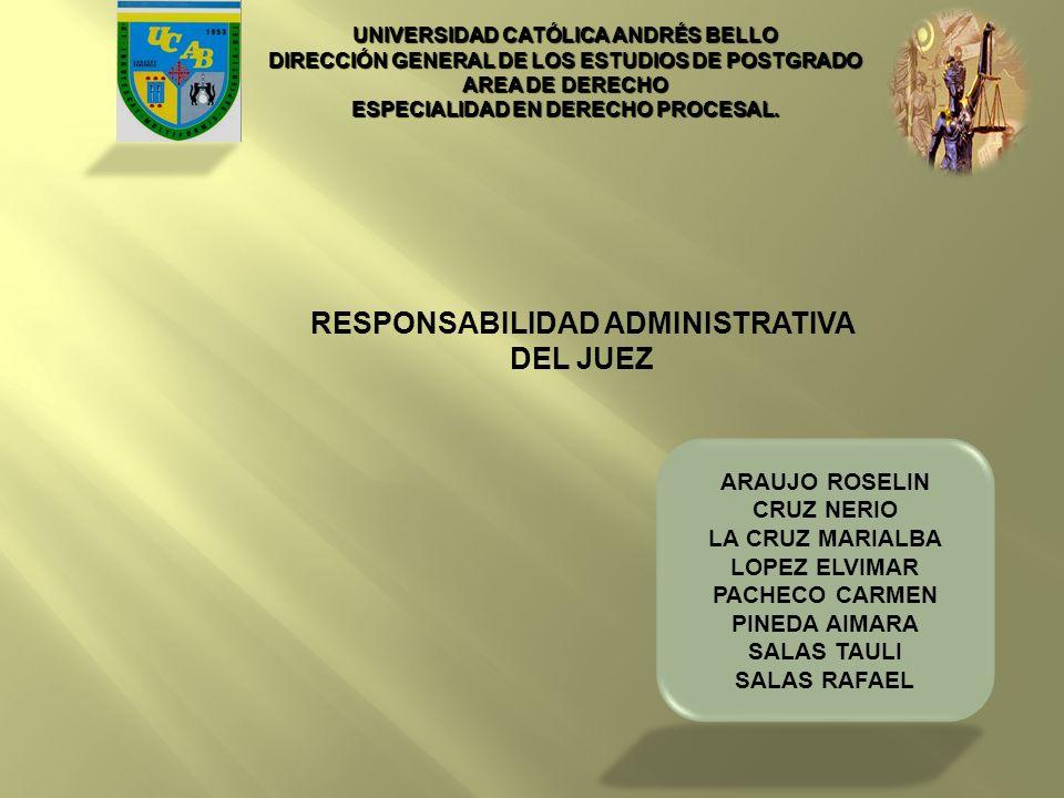 RESPONSABILIDAD ADMINISTRATIVA DEL JUEZ