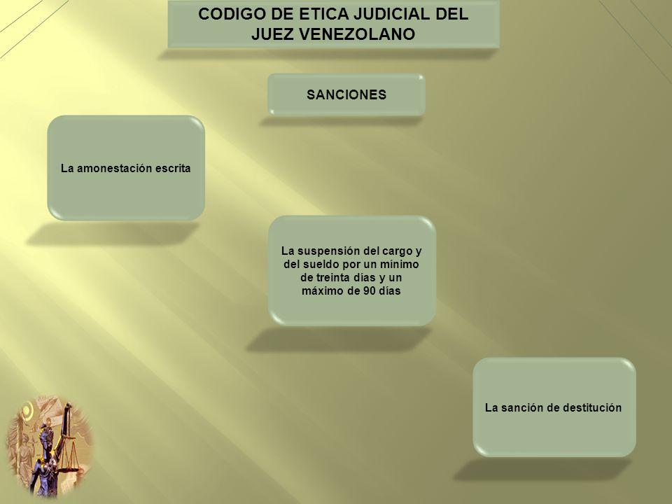 CODIGO DE ETICA JUDICIAL DEL JUEZ VENEZOLANO