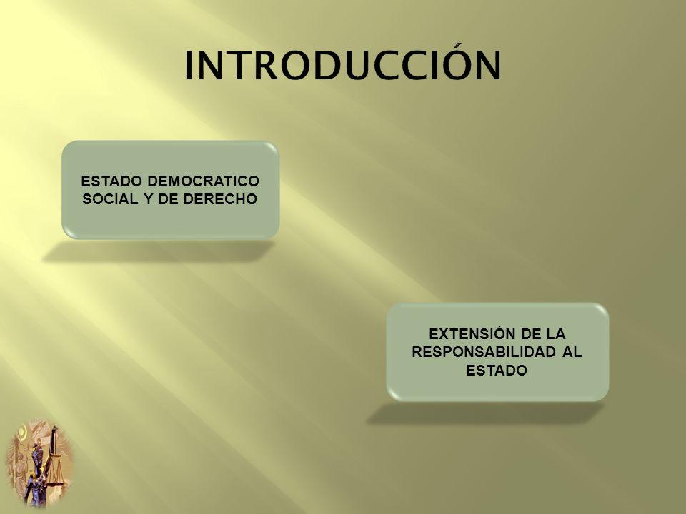 INTRODUCCIÓN ESTADO DEMOCRATICO SOCIAL Y DE DERECHO