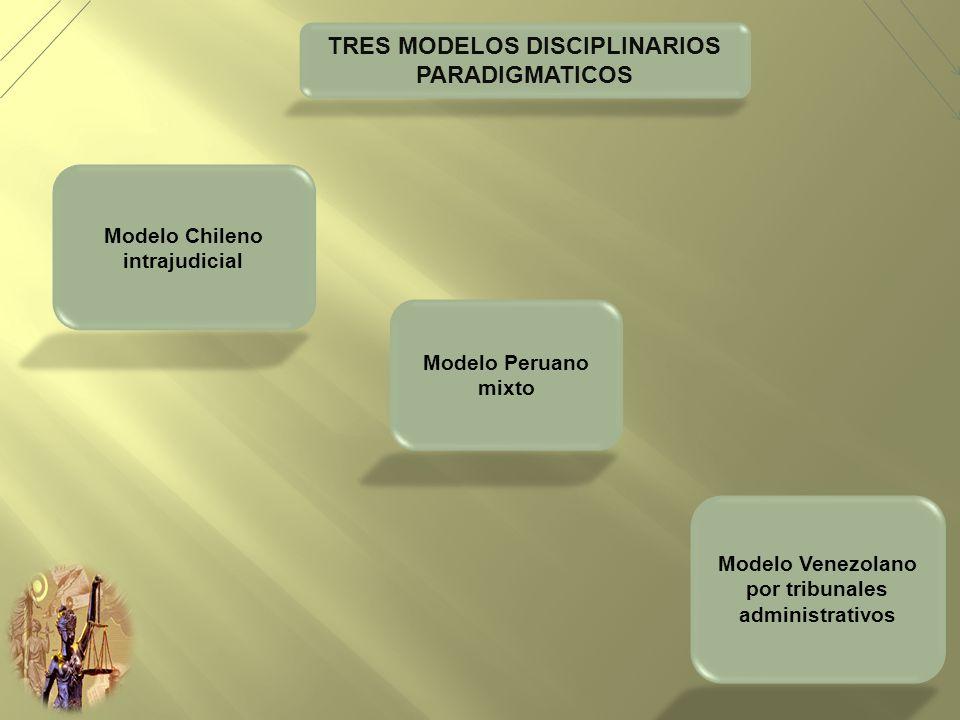TRES MODELOS DISCIPLINARIOS PARADIGMATICOS