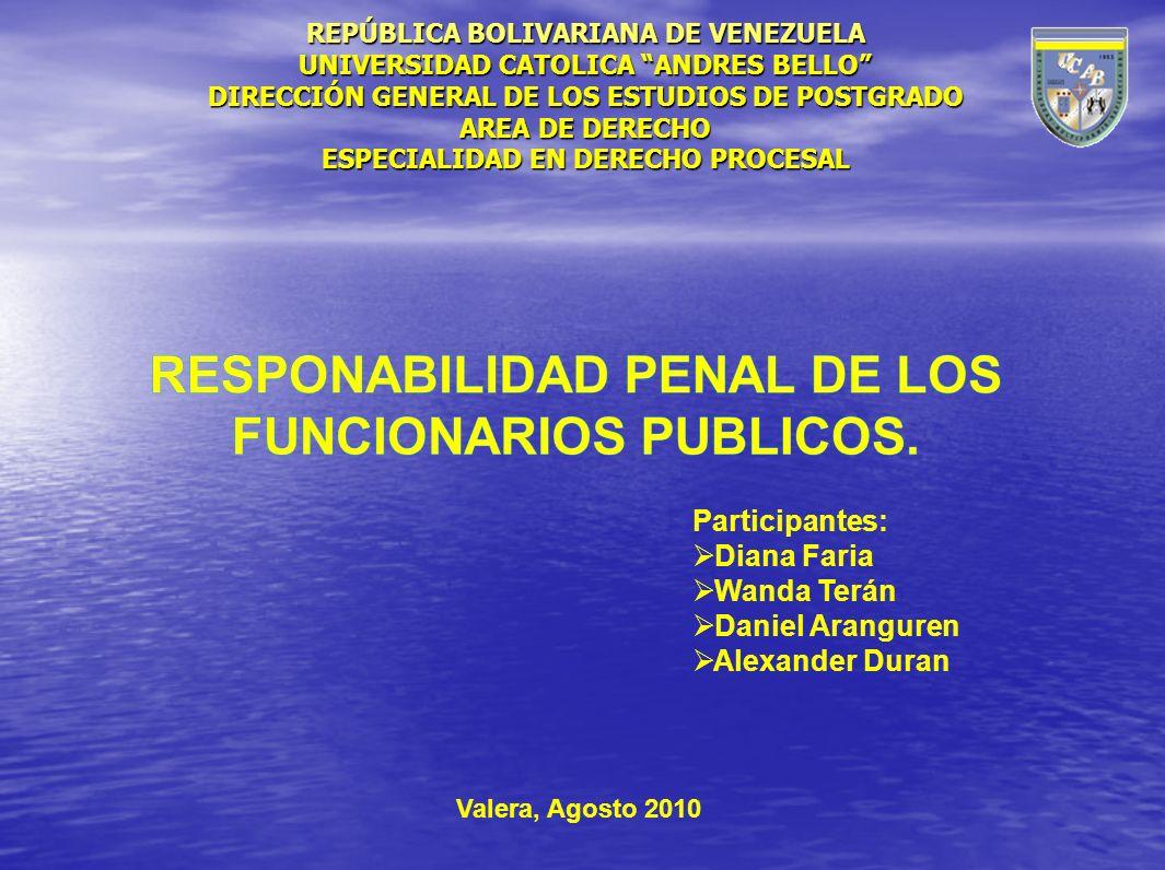 REPÚBLICA BOLIVARIANA DE VENEZUELA ESPECIALIDAD EN DERECHO PROCESAL