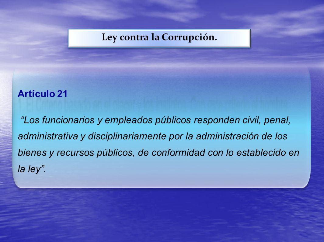 Ley contra la Corrupción.