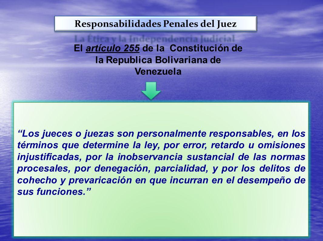 Responsabilidades Penales del Juez