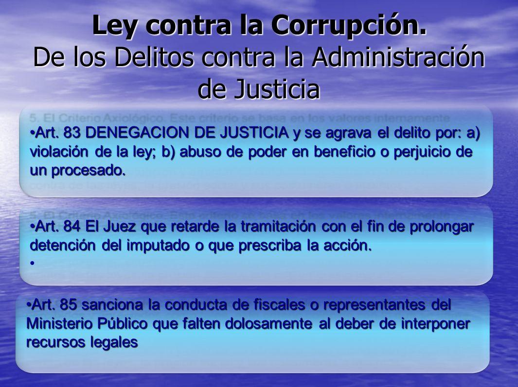 Ley contra la Corrupción