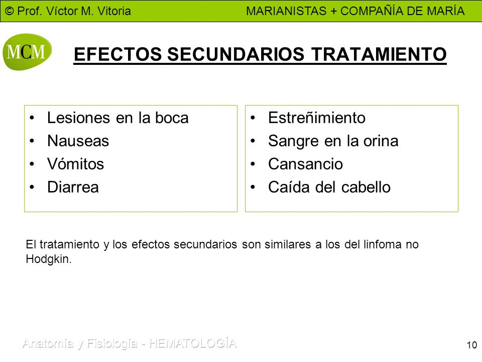 EFECTOS SECUNDARIOS TRATAMIENTO