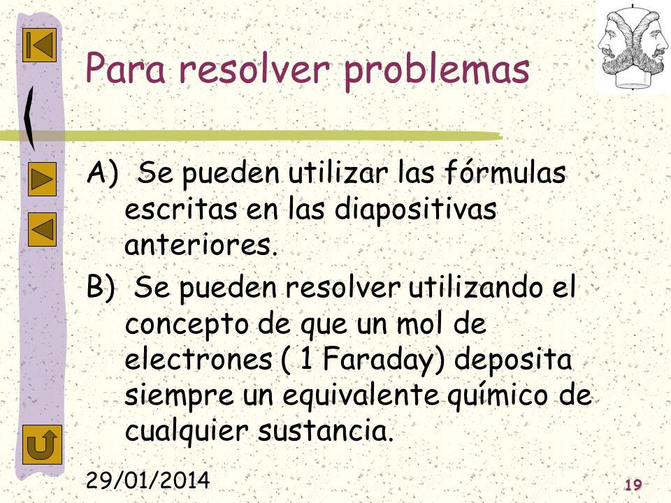 Para resolver problemas