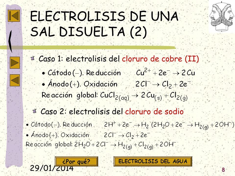 ELECTROLISIS DE UNA SAL DISUELTA (2)