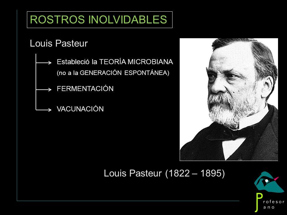 ROSTROS INOLVIDABLES Louis Pasteur Louis Pasteur (1822 – 1895)