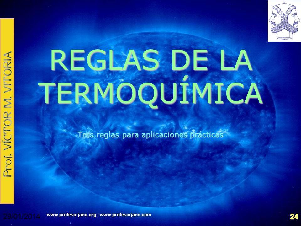 REGLAS DE LA TERMOQUÍMICA