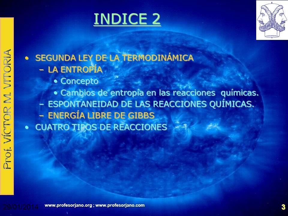 INDICE 2 SEGUNDA LEY DE LA TERMODINÁMICA LA ENTROPÍA Concepto
