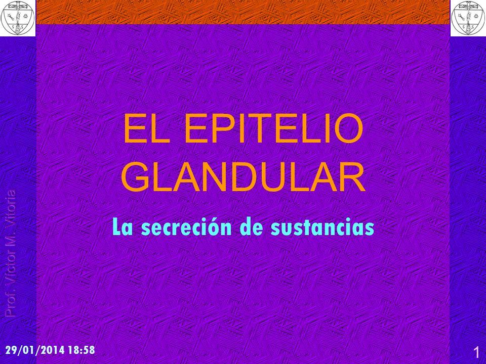 Prof. VÍCTOR M. VITORIA - San Sebastián La secreción de sustancias