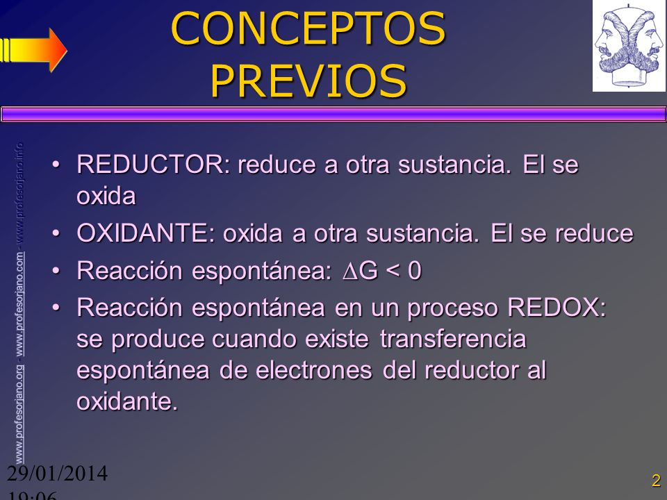 CONCEPTOS PREVIOS REDUCTOR: reduce a otra sustancia. El se oxida