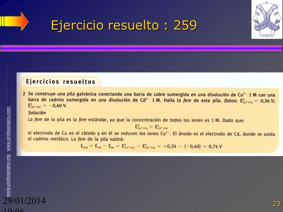 Ejercicio resuelto : 259 24/03/2017 18:0724/03/2017 18:07