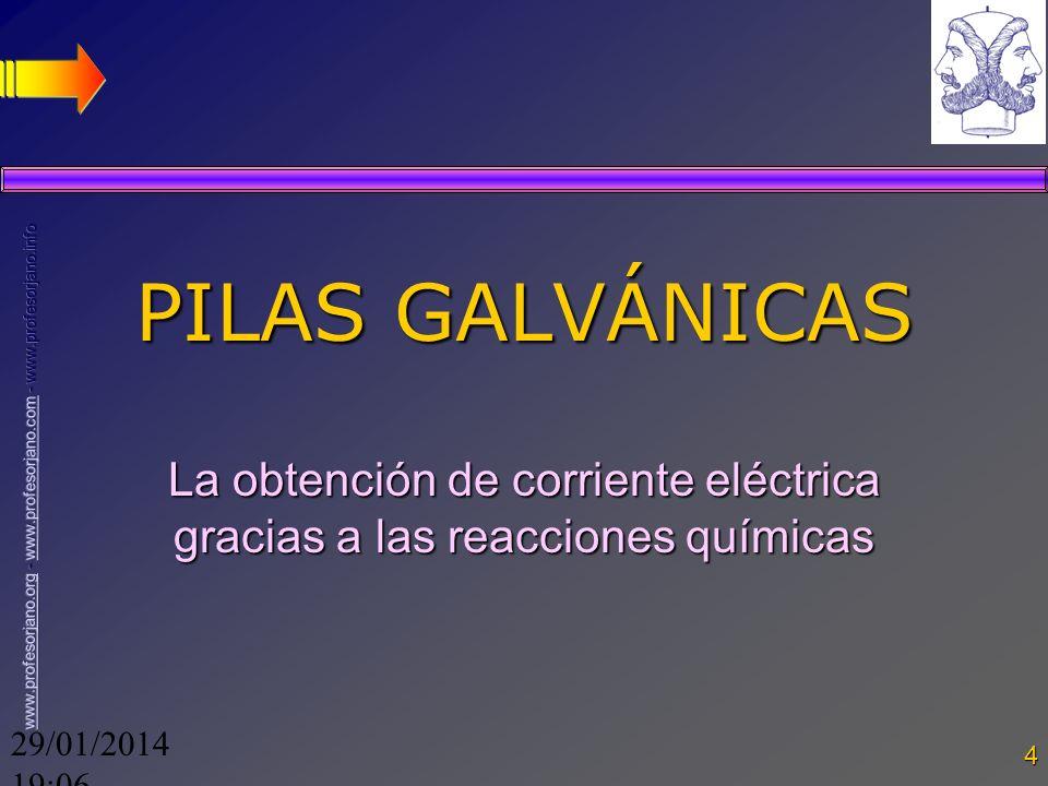 La obtención de corriente eléctrica gracias a las reacciones químicas