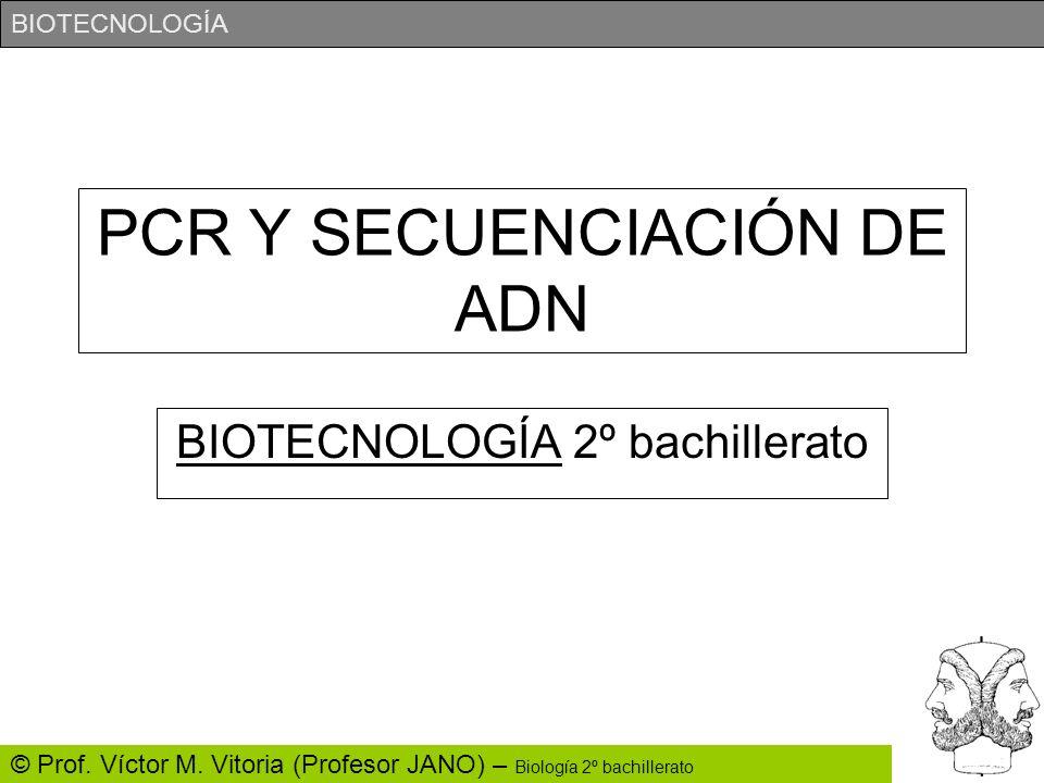 PCR Y SECUENCIACIÓN DE ADN