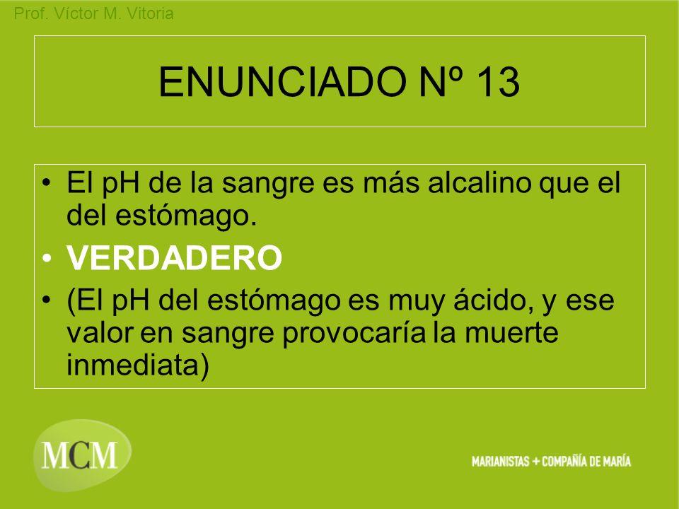 ENUNCIADO Nº 13 VERDADERO