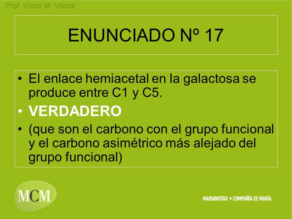 ENUNCIADO Nº 17 VERDADERO