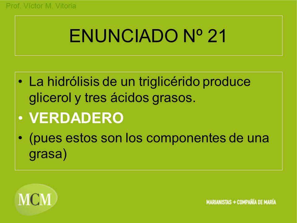 ENUNCIADO Nº 21 VERDADERO