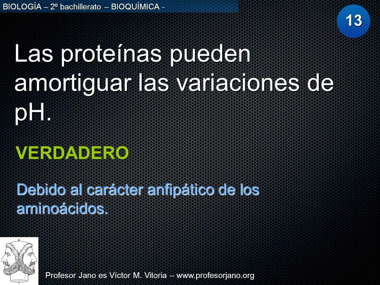 Las proteínas pueden amortiguar las variaciones de pH.