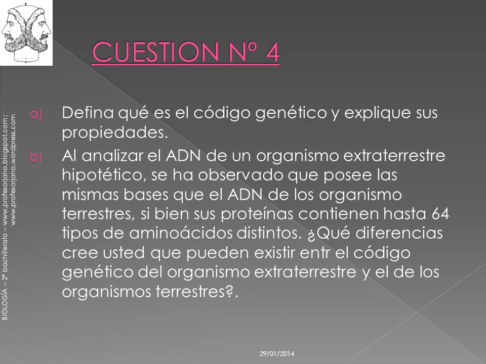 CUESTION Nº 4 Defina qué es el código genético y explique sus propiedades.
