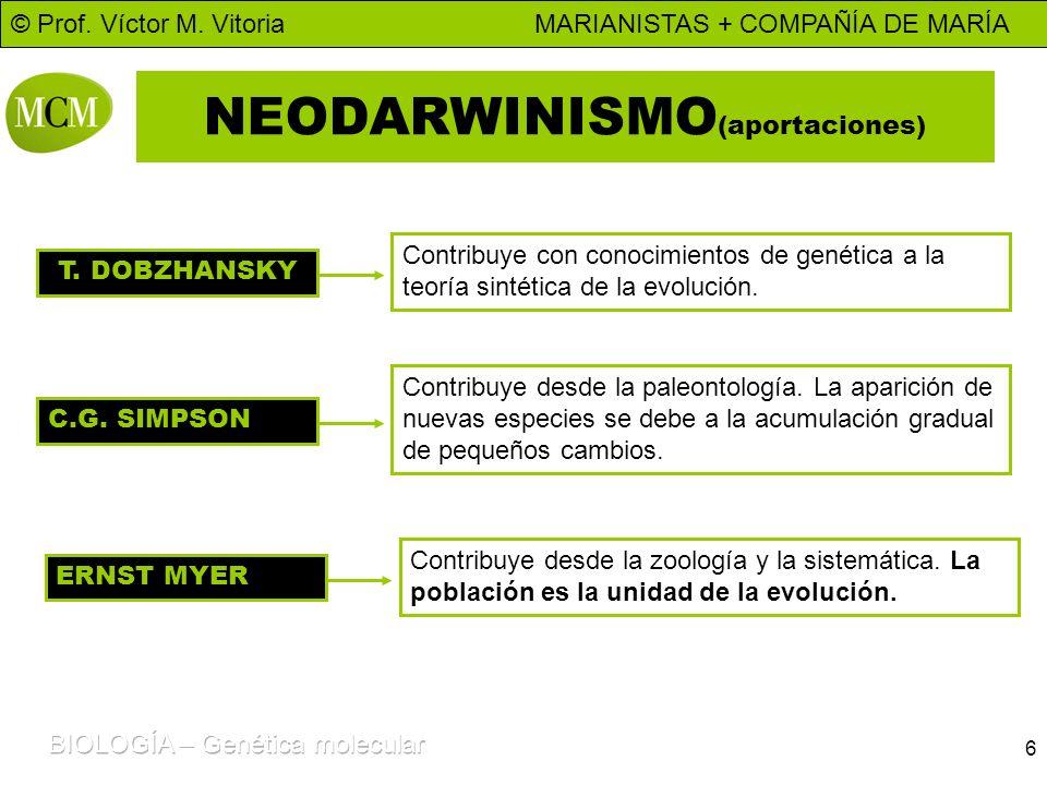 NEODARWINISMO(aportaciones)