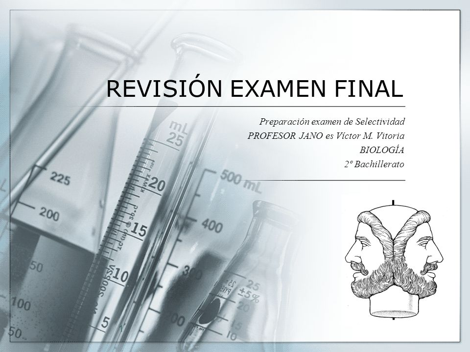 REVISIÓN EXAMEN FINAL Preparación examen de Selectividad