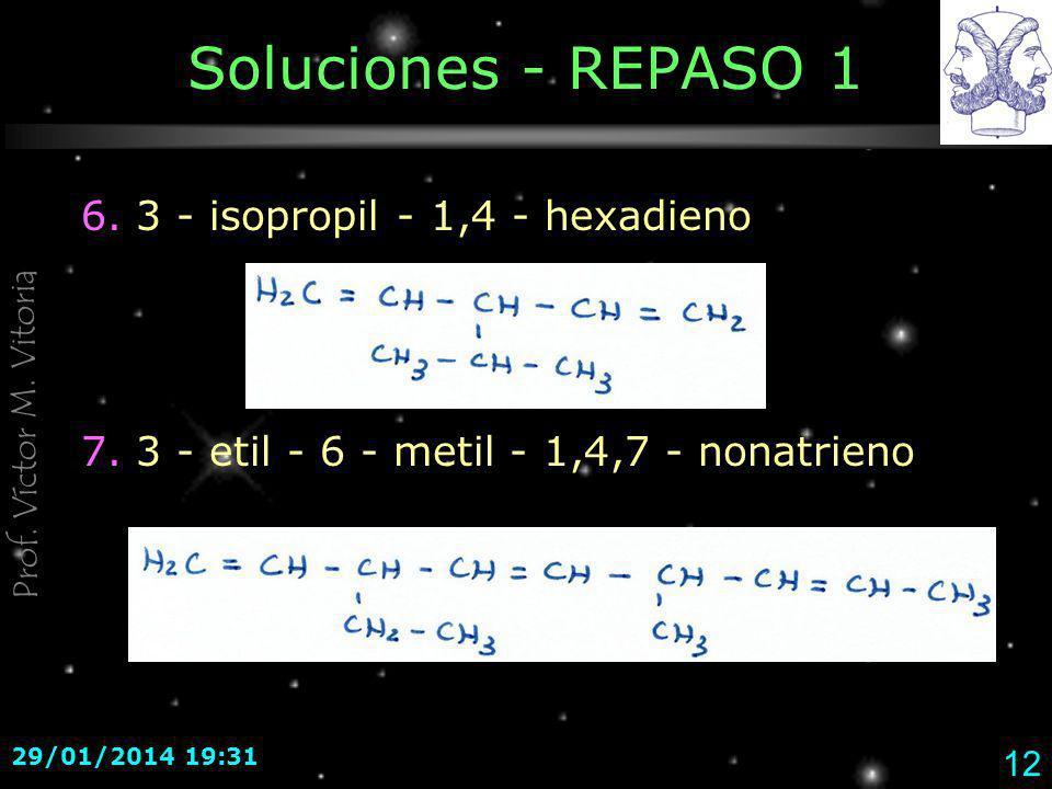 Soluciones - REPASO 1 6. 3 - isopropil - 1,4 - hexadieno