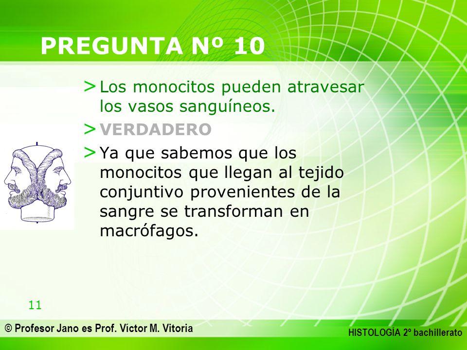 PREGUNTA Nº 10 Los monocitos pueden atravesar los vasos sanguíneos.